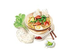 Vietnamese Food Illustrations on Behance