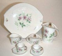 Pastel Flower Miniature Tea Set