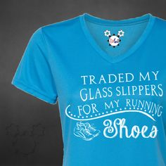 Behind The Mouse - Ladies And She Ran Happily Ever After... Running Shirt