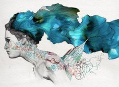 Рисунки шариковой ручкой испанского художника Gabriel Moreno.