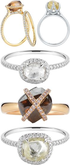 Unique engagement and wedding rings from Diamond in the Rough