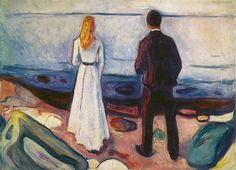 Edvard Munch - The Lonely Ones (1908) - Google Search