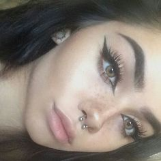 71 Cutest and Most Elegant Nostril Piercing Nose Septum Ring Design That You Can. - Piercing - # 71 Cutest and Most Elegant Nostril Piercing Nose Septum Ring Design That You Can. Makeup Goals, Makeup Inspo, Makeup Inspiration, Makeup Tips, Beauty Makeup, Eye Makeup, Hair Makeup, Hair Beauty, Makeup Ideas