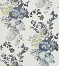Interior Design Trend, Painterly Florals | Seraphina Wallpaper by Designers Guild | Jane Clayton