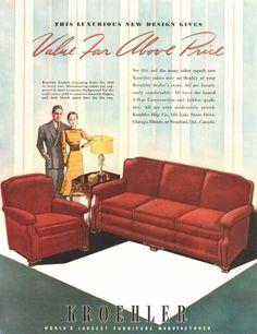 Kroehler Furniture Advertisement 1939