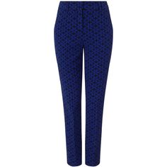 Phase Eight Alice daisy trousers ($100) ❤ liked on Polyvore featuring pants, blue and women