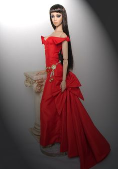 Rouge Allure OOAK gown by Madeleine Rose Couture