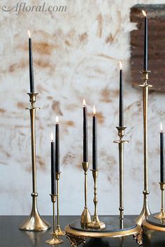 Make your centerpieces and candle displays something to admire with this gold and black marble Grandeur stand. The display stand it s wide x tall. Gold Candle Holders, Gold Candles, Black Candles, Candle Set, Vintage Candle Holders, Votive Candles, Strong Scented Candles, Romantic Candles, Black Gold Jewelry