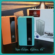 The #Deezel #150watt box mod is here! Brighten up your summer with these cool colors! #socalvapeescape   #vapeescape   #instalike   #cypress   #improof   #webstagram   #vapestagram   #stopsmokingstartvaping   #instavape   #smokefree   #vapefam   #vapeshop VAPE ESCAPE 5363 Lincoln Ave. Cypress, Ca 90630 714.484.8273 www.SoCalVapeEscape.com www.ECigShopCypressCa.com Mon-Sat: 11am-8pm Sun: 11am-6pm