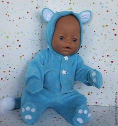 """Комбинезон """"киска"""" (в ассортименте) - одежда для кукол,одежда для беби бона"""