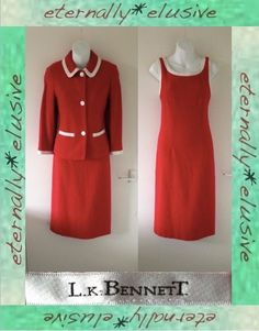 LK BENNETT Tweed Look Fitted Jacket Dress Set Suit Outfit Women Ladie Size 10 38   39.85