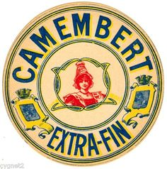 FRENCH CHEESE LABEL - CAMEMBERT EXTRA-FIN.