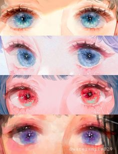 Discover recipes, home ideas, style inspiration and other ideas to try. Digital Painting Tutorials, Digital Art Tutorial, Art Tutorials, Digital Paintings, Concept Art Tutorial, Drawing Tutorials, 5 Anime, Anime Eyes, Art And Illustration