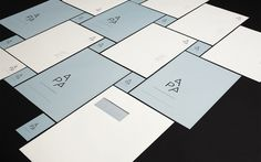 Alex Poulsen Architects (red dot design award grand prix 2011). | #identity #stationary #architects | www.alexpoulsen.dk