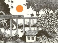 Konkan Railway by Mario Miranda. I'm waiting to make this trip...then I suppose I can get this print.