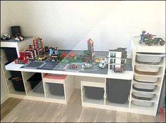 Playmo storage - Ikea DIY - The best IKEA hacks all in one place Ikea Kids, Lego Bedroom, Kids Bedroom, Boy Bedrooms, Lego Table, Lego Storage, Toy Rooms, Kids Room Design, Kids Decor