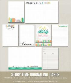 Story Time Journaling Cards at In A Creative Bubble Shoppe