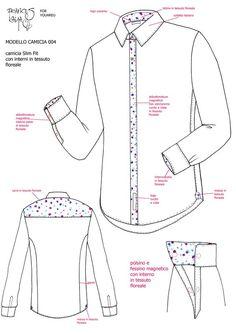 Fashion Sewing, Mens Fashion, Mens Shirt Pattern, Shirt Sketch, Polo Shirt Design, Sewing Shirts, Fashion Vocabulary, Fashion Design Sketches, Kurta Designs