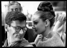 Rare Audrey Hepburn — Audrey Hepburn with photographer Richard Avedon in...
