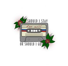 Stranger Things Print / The Clash - Should I Stay or Should I Go? Stranger Things Tattoo, Stranger Things 3, Stranger Things Aesthetic, The Clash, Netflix, Overlays, Should I Stay, Photoshop, Body Mods