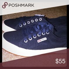 Superga navy blue sneakers from Stitch Fix New! Size 8.5 Cotu classic lace up sneakers Superga Shoes Sneakers
