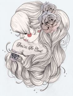 This is gorgeous, would make a cool tattoo minus the part that says your'e so cool.