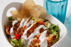 Blackened chicken salad with light buttermilk ranch dressing | Can You Stay For Dinner?