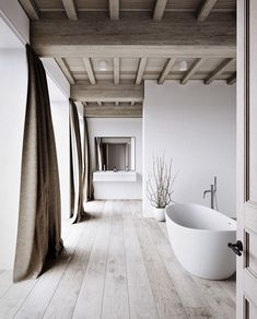 modern bathroom design in an old house.such a gorgeous design! Bad Inspiration, Bathroom Inspiration, Interior Design Inspiration, Design Ideas, Style At Home, Interior Architecture, Interior And Exterior, Modern Interior, Ikea Interior
