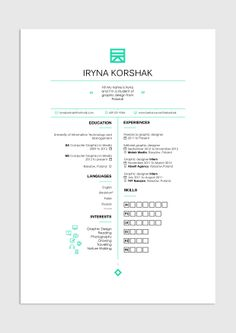 Resume Simple Clean White Space Resume Pinterest Design Resume