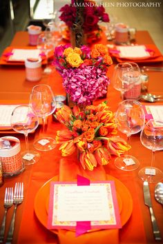 A Perfect Event #aperfectevent #debililly #eventtrends #summer #table #orange