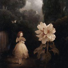 A Nocturnal Summer Stephen Mackey Goth Art, Lowbrow Art, Creepy Art, Pop Surrealism, Pics Art, Surreal Art, Dark Art, Painting Inspiration, Flower Art