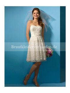 Frühjahr Kurze Spitze Hochzeitskleid 2013