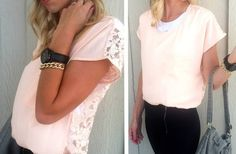GroopDealz | Anthropologie Inspired Lace Back Top - 4 colors