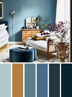 Brown and blue bedroom color schemes blue and brown bedroom color inspired find color inspiration ideas . brown and blue bedroom color schemes Living Room Color Schemes, Blue Bedroom Colors, Bedroom Colour Palette, Brown Bedroom Colors, Living Room Wall Color, Bedroom Colors, Bedroom Color Combination, Brown Living Room, Room Wall Colors