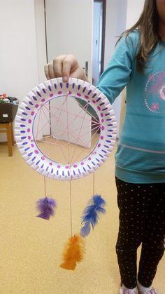 Tvoříme s dětmi  ☺: Lapače snů z papírových talířků Dream Catcher, Crafts For Kids, Christmas Ornaments, Children, School, Painting, Decor, Art, Mother's Day