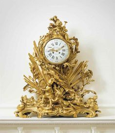 A FRENCH ORMOLU MANTLE CLOCK: 'PENDULE A LA GLOIRE DU ROI' | AFTER THE MODEL BY EDMÉ JEAN GALLIEN, BY GRAUX-MARLY FRÈRES, THE MOVEMENT BY GRIBELIN, PARIS, CIRCA 1870 | Clocks, gold ground / ormolu | Christie's