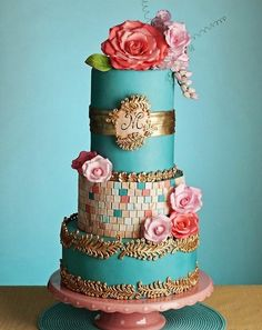 Lovely colourful cake