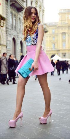 high-waist-flare-skirt