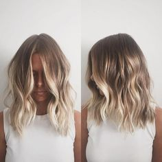 Here's Every Last Bit of Balayage Blonde Hair Color Inspiration You Need. balayage is a freehand painting technique, usually focusing on the top layer of hair, resulting in a more natural and dimensional approach to highlighting. Blonde Balayage Highlights, Hair Color Balayage, Red Highlights, Caramel Highlights, Short Balayage, Bronde Balayage, Chunky Highlights, Blonde Hair Without Highlights, Blonde Color
