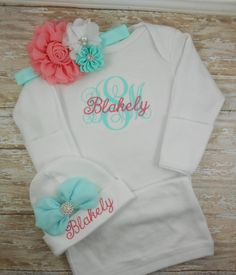 Baby girl coming home outfit Newborn baby girl by LittleQTCouture