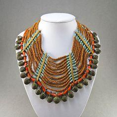 Vintage Bib Necklace Naga Necklace Ethnic Jewelry Statement Necklace Tribal Jewelry Asian Jewelry Vintage Jewellery Vintage Collectibles