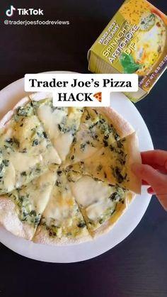 Trader Joes Food, Trader Joe's, Trader Joes Pizza Dough Recipe, Trader Joe Meals, Fun Baking Recipes, Cooking Recipes, Healthy Snacks, Healthy Recipes, Aesthetic Food