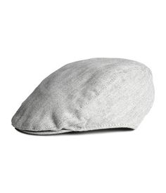 Check this out! Flat cap in woven, herringbone-patterned cotton fabric with elastication at back. Lined. - Visit hm.com to see more.