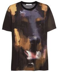 7ba0b769680f2 Camiseta con cuello circular estampada negra Givenchy Shirt
