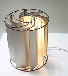 Rare turbine table lamp designed in 1970's by french designer Max Sauze