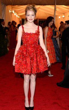 MET Gala 2012 - Emma Stone in Lanvin