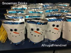 Christmas Party Snowman Drinks    From:  A Frugal Friend