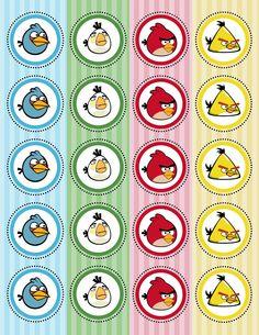 Kit Festa Angry Birds para imprimir