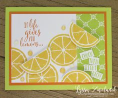 Lemon Zest Builder Punch Bundle Stampin Up Lyssa lime orange if life gives lemons Paper Cards, Diy Cards, Your Cards, Stampin Up Catalog, Beautiful Handmade Cards, Pretty Cards, Stamping Up, Homemade Cards, Stampin Up Cards