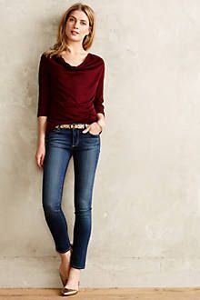skinny jeans with cute top and belt